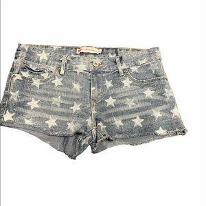 Levis shorty denim stars shorts